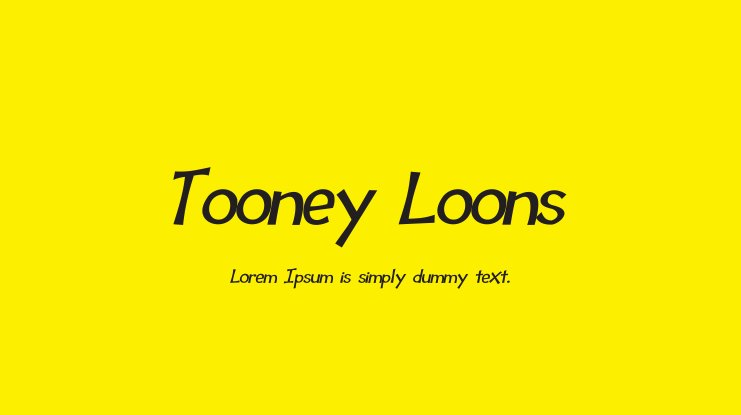 Tooney Loons Font Family