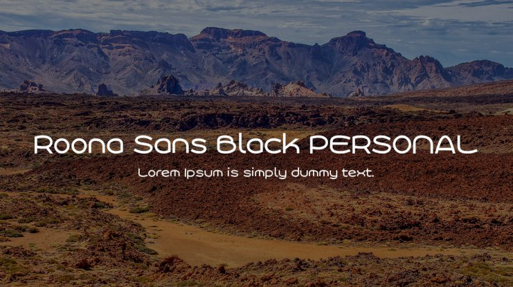 Roona Sans Black PERSONAL Font Family