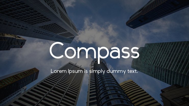 Compass Font Family