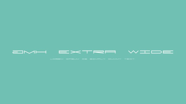 JMH Extra Wide Font