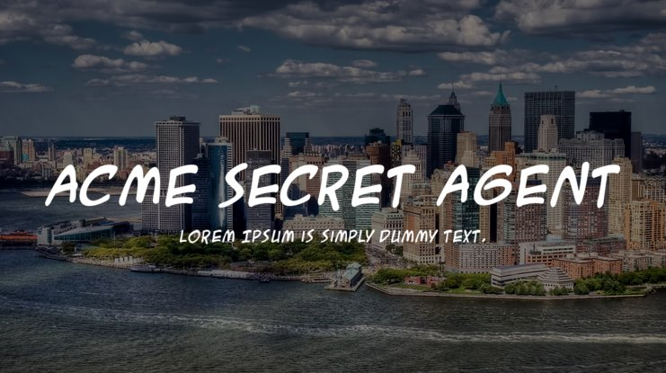 ACME Secret Agent Font Family