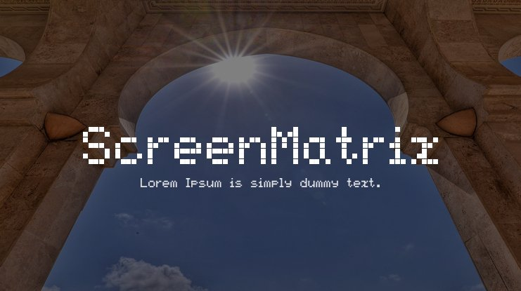 ScreenMatrix Font