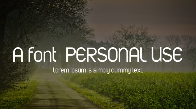 A font  PERSONAL USE