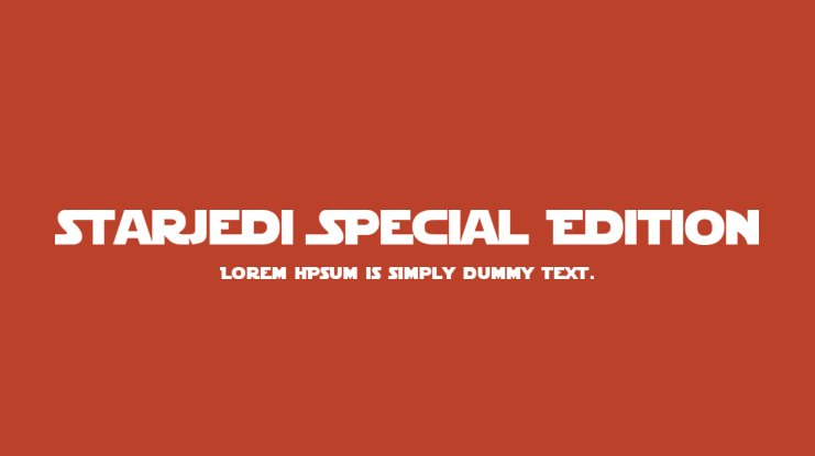 StarJedi Special Edition Font Family