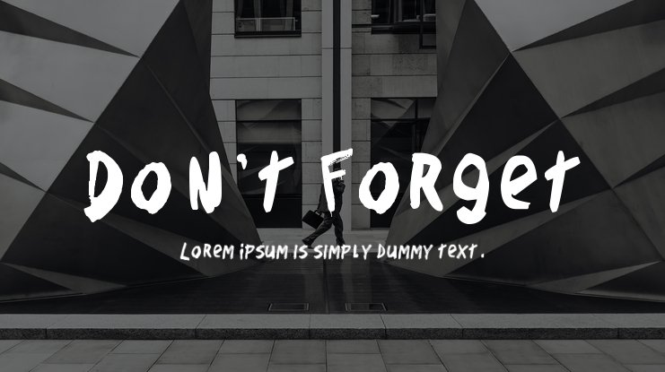 Don't Forget Font