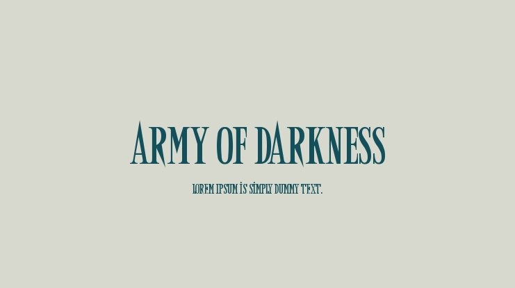 Army of Darkness font