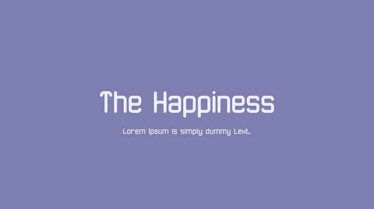 The Happiness Font