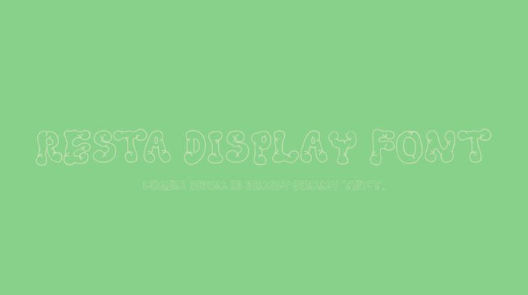 Resta Display Font
