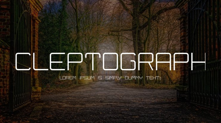 Cleptograph Font