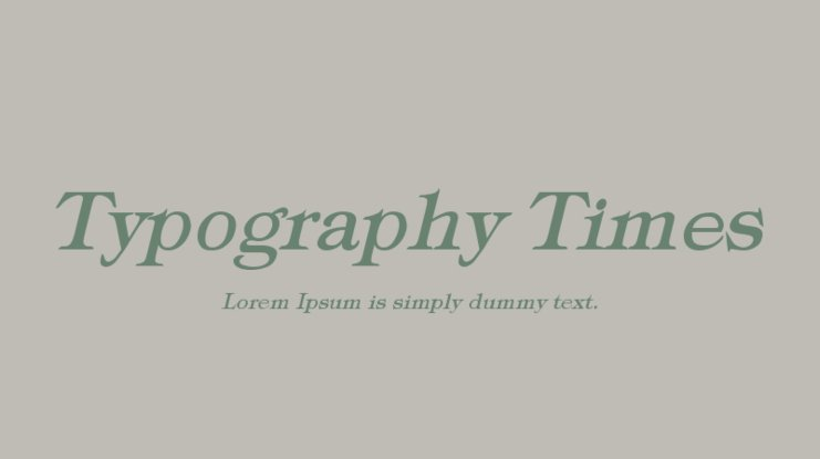 Typography Times Font Family