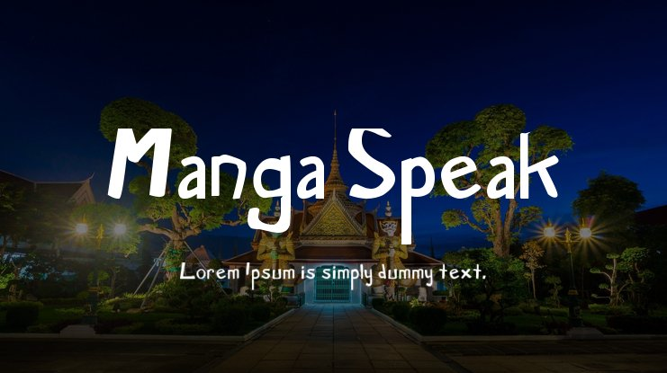 Manga Speak Font Family
