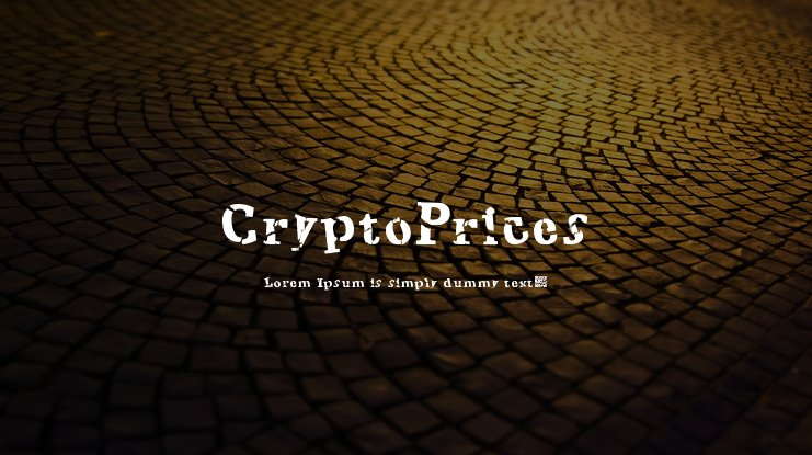 CryptoPrices Font