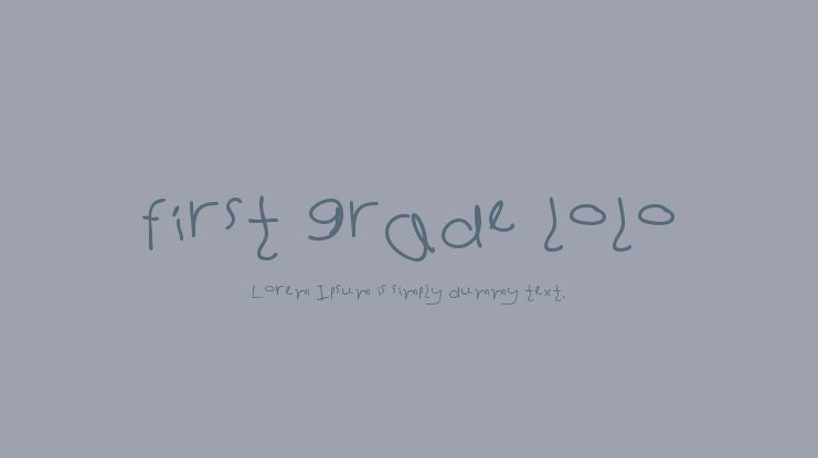 first grade lolo Font