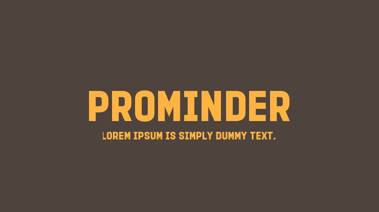 PROMINDER Font Family