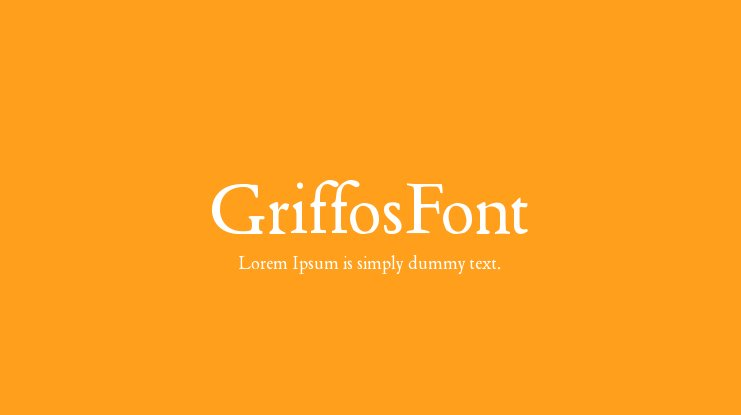 GriffosFont Font Family