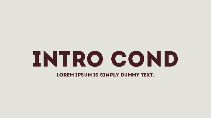 Intro Cond Font Family