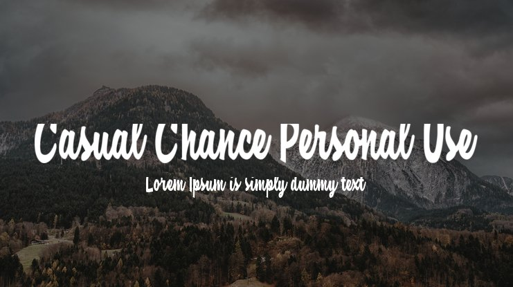 Casual Chance Personal Use Font