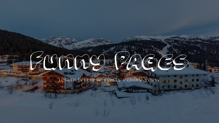 Funny Pages Font Family