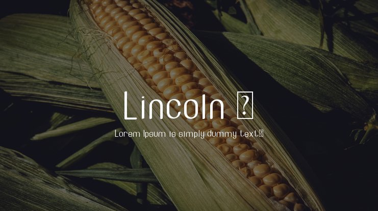 Lincoln - font