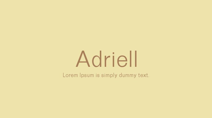 Adriell Font Family