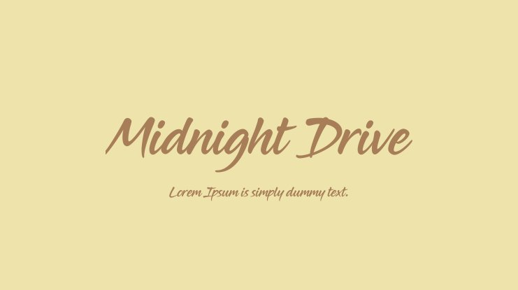 Midnight Drive Font Family