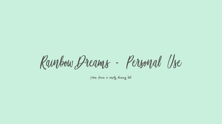 Rainbow Dreams - Personal Use Font