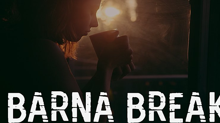 Barna Break Font