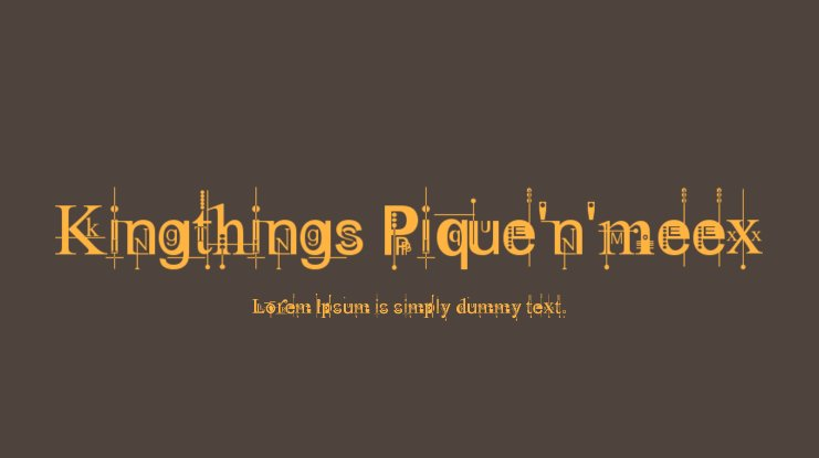 Kingthings Pique'n'meex Font