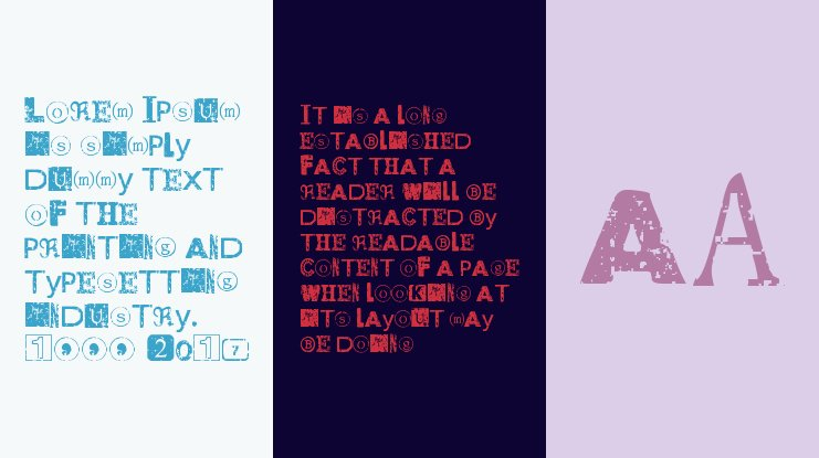 Distressed Ransom Note Font