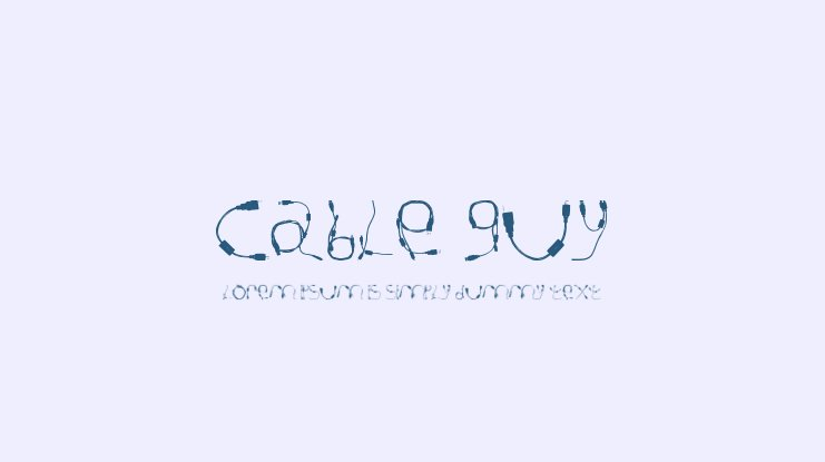 Cable Guy Font