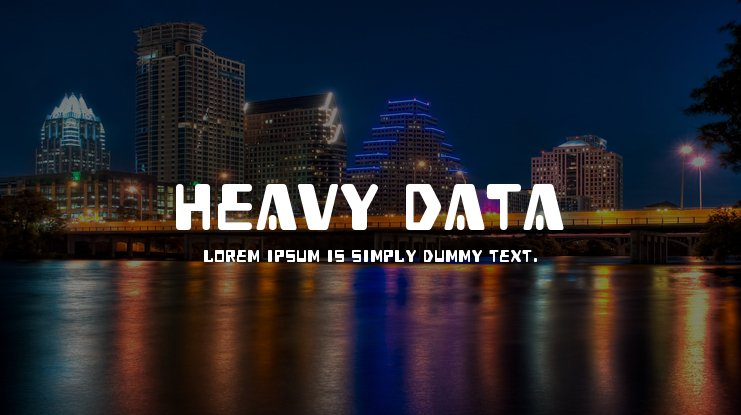 Heavy Data Font