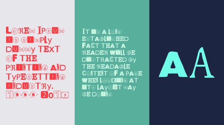 Yet Another Ransom Note Font