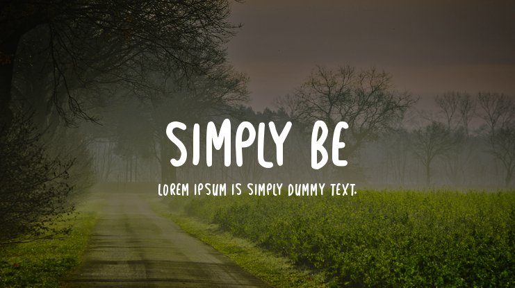 Simply Be Font