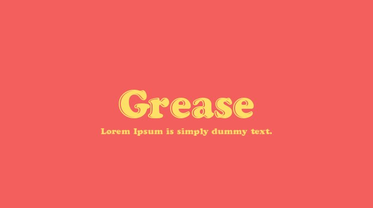 Grease Font
