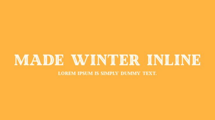 Made Winter Inline Font Family