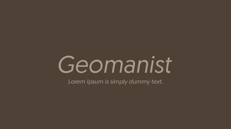 Geomanist Font Family