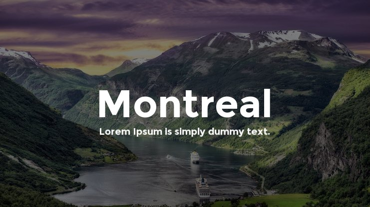 Montreal Font Family