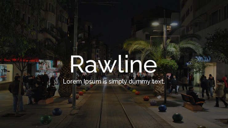 Rawline Font Family