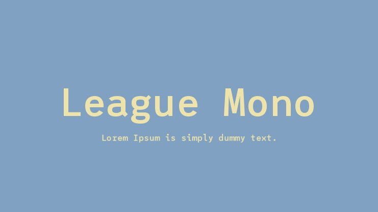 League Mono Font Family