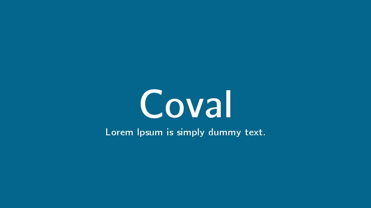 Coval Font Family