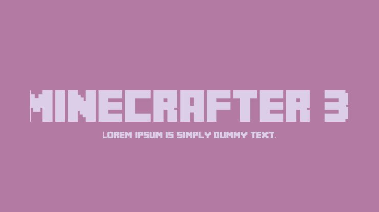 MineCrafter 3 Font