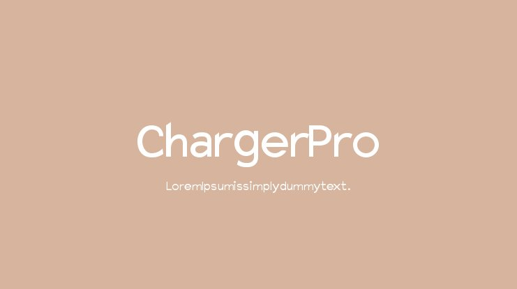 Charger Pro Font Family