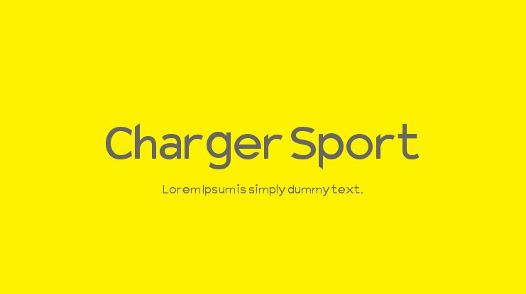 Charger Sport Font Family