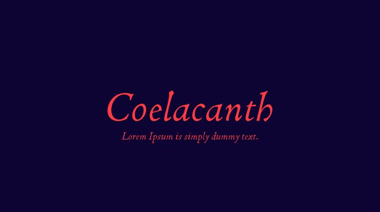 Coelacanth Font Family