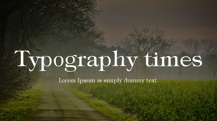 Typography times Font