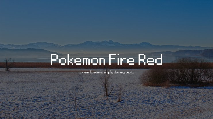 Pokemon Fire Red Font