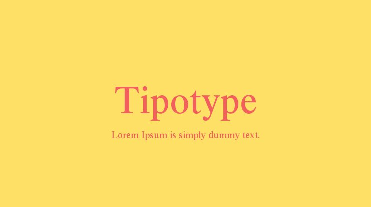 Tipotype Font Family