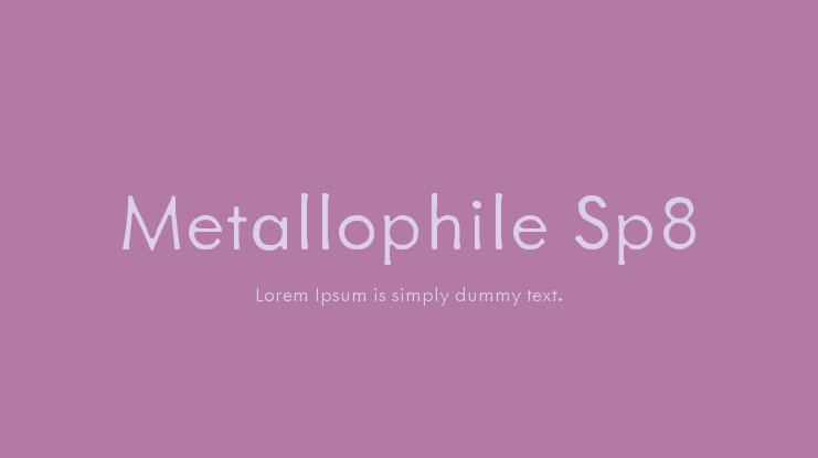 Metallophile Sp8 Font Family