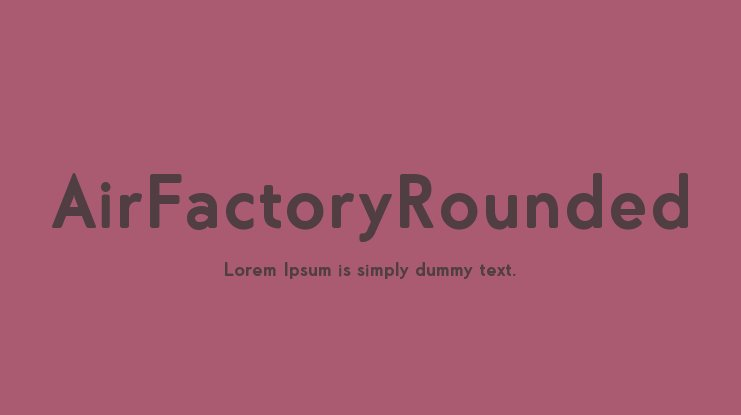 AirFactoryRounded Font Family