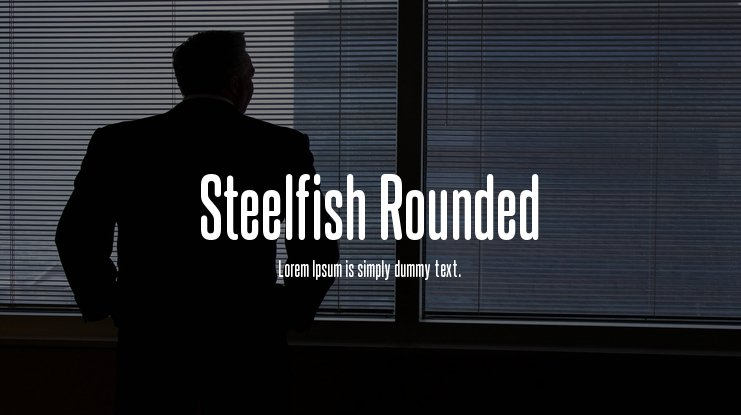 Steelfish Rounded Font